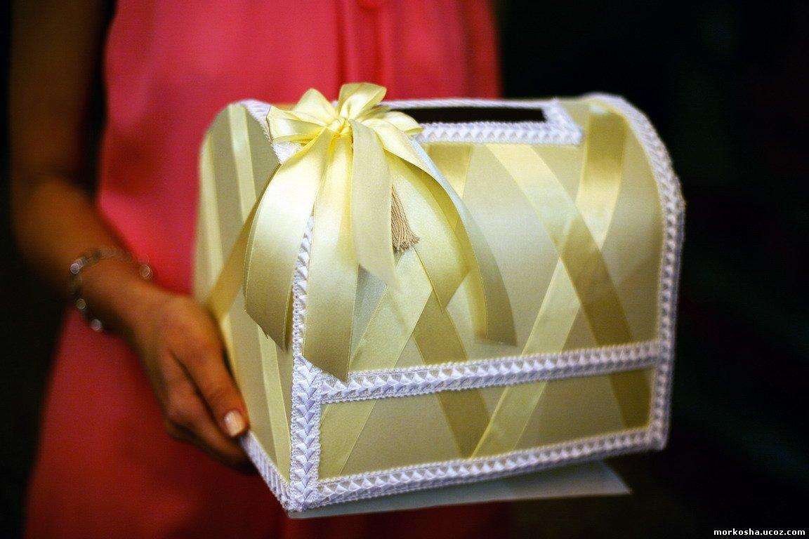 Свадебная шкатулка для денег пошагово 5