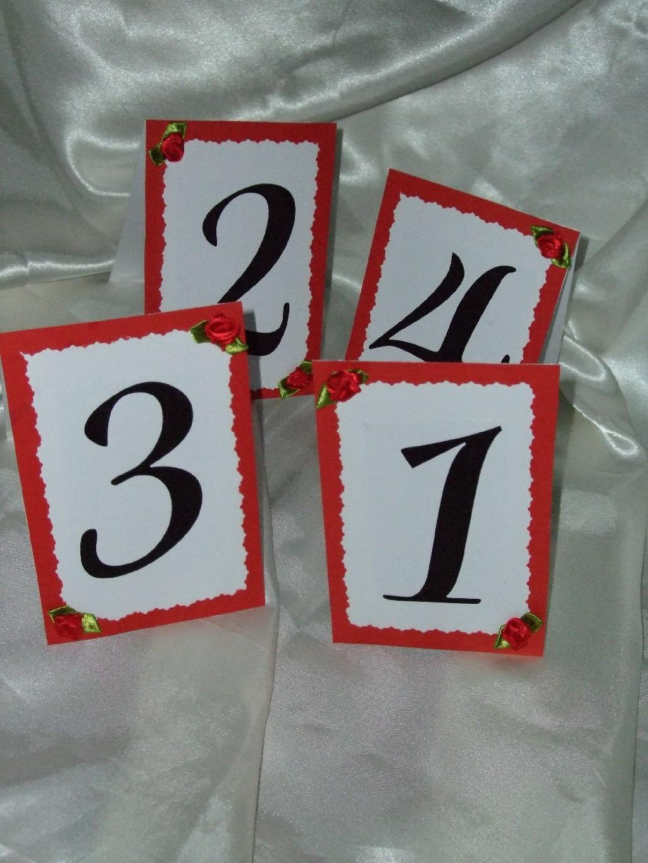 Номерки для столов своими руками Красивая Свадьба 41
